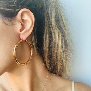 Medium Rose Gold Hoop Earrings